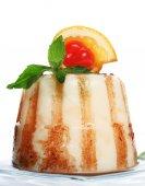 Gelatin dessert with caramel — Stock Photo