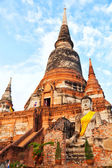 Wat Yai Chaimongkhon, Ayuthaya — Stock Photo