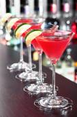 Cosmopolitan cocktail in bar — Stock Photo