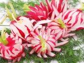 Food radish  carving — Stock Photo