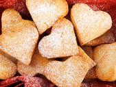 Homemade Heartshape Cookies — Stock Photo
