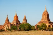 Pagodes anciennes à bagan — Photo