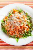 Fresh salad with carrots and cheese — Stock Photo