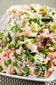 Rice salad with salmon — Stock Photo
