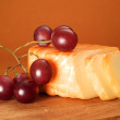 Cheese and red grape — Stock Photo #62244279
