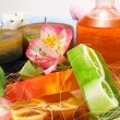 Candles and aromatic soaps — Stock Photo #62246995