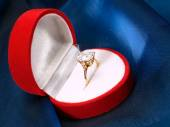 Engagement Ring in box — Stock Photo