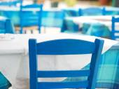 Typical greek restaurant — Stock Photo