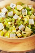 Salad with celery, apple and  cheese — Stock Photo