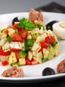Tunisian salad with tomatoes — Stock Photo