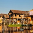 Floating  houses at  Inle Lake, Myanmar — Stock Photo #62272849