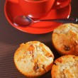 Muffins with coconuts and dried fruits — Stock Photo #62343941