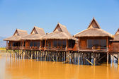 Deluxe hotel on Inle Lake — Stock Photo