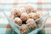 Homemade coconut candies — Zdjęcie stockowe