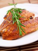 Baked salmon with rosemary — Stock Photo
