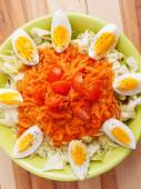 Carrot salad with eggs — Stock Photo