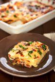 Italian lasagna in plate — Stock Photo