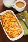 Baked Macaroni and cheese — Stock Photo
