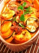 Potato and zucchini casserole — Stock Photo