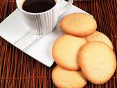 Homemade cookies with coffee — Stock Photo