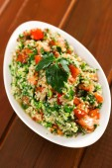 Quinoa tabouleh in bowl — Stock Photo