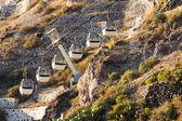 Cable car in Fira, Santorini — Stock Photo