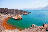 Nea Kameni volcanic island, Santorini — Fotografia Stock