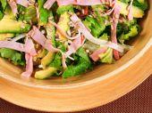 Avocado salad with ham — Stock Photo