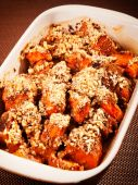 Pumpkin with nuts casserole — Stock Photo