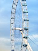 London Eye working during day — Stock Photo