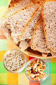 Homemade multiseed bread — Stock Photo