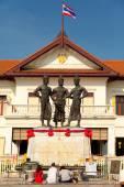 Three kings monument Thailand — ストック写真