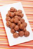 Bombons de chocolate caseiros — Fotografia Stock