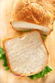 White bread for sandwiches — 图库照片