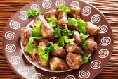 Duck Hearts in butter — Stock Photo