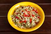 Chinese salad with soya beans — Stock Photo