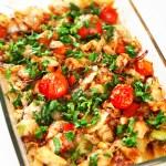 Homemade salmon casserole — Stock Photo #63298075