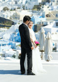 Asian wedding in Santorini — Stock Photo