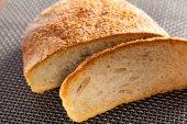 Homemade bread cut into slice — Stock Photo