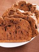 Chocolate bread with raisins — Foto de Stock