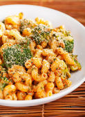 Pasta with broccoli and parmesan cheese — Stock Photo