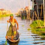 Intha Fisherman, Inle Lake, Myanmar — Stock Photo #63344361