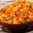 Casserole with chicken, potatoes and tomatoes — Stock Photo #63345211