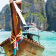 Longtail boat in Maya bay — Stock Photo #63345423