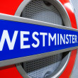 Westminster Underground Sign, London — Stock Photo #63345833