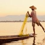 Fisherman, Inle Lake, Myanmar — Stock Photo #63346131