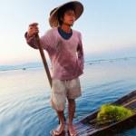 Fisherman, Inle Lake, Myanmar — Stock Photo #63346173