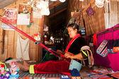 Woman weaving, Thailand — Stock Photo