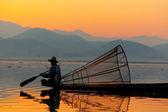 Fisherman, Inle Lake, Myanmar — Stock Photo