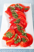 Salad of sliced tomatoes — Stock Photo